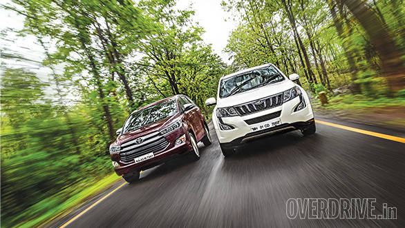 Comparo: Toyota Innova Crysta 2.8 AT vs Mahindra XUV500 2.2 AT
