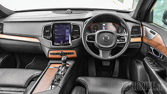 The Volvo's interiors make great use of leather, brushed aluminium and wood