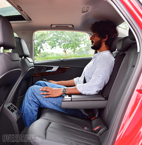 Rear knee room in the 2016 Audi A4 is quite impressive.