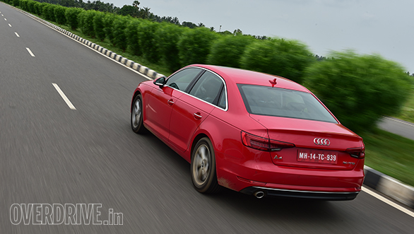 The rear of the A4 looks a bit more interesting with the integrated spoiler