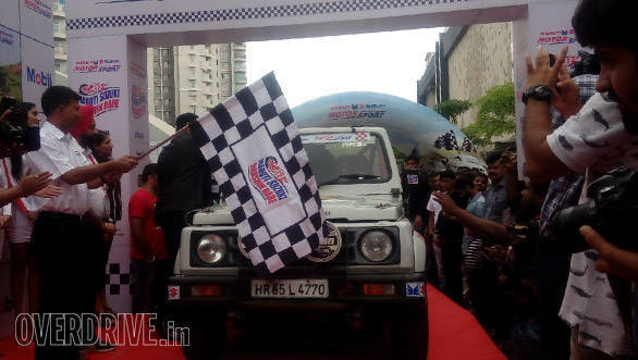 2016 Maruti Suzuki Dakshin Dare flagged off from Bengaluru