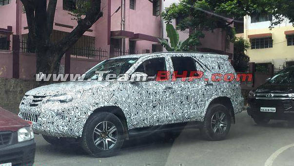 Spied: 2016 Toyota Fortuner spotted testing in India