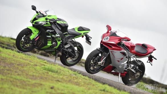 Comparo: Kawasaki Ninja ZX-10R vs MV Agusta F4 R