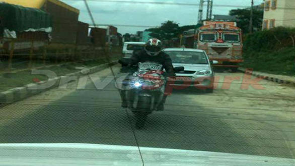 Spied: TVS Akula 310 caught testing in India
