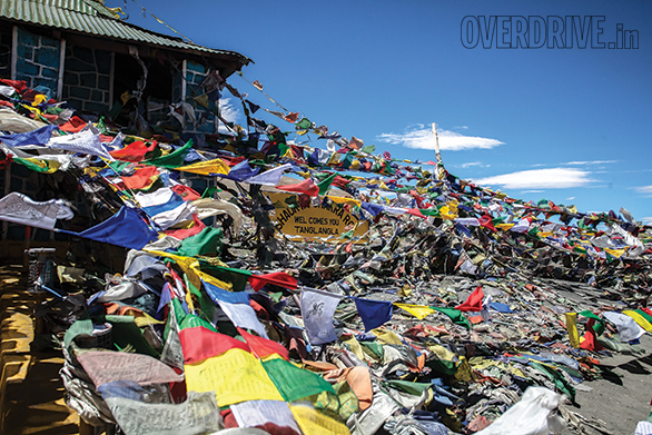 Tanglangla is a hard pass to climb. Not just because it is a long climb to a very high pass but because you can see the pass clearly right from the bottom. The forest of prayer flags underlines that it is a windy pass. The belief is that the wind carries the prayers to the gods