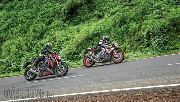 aprilia tuono vs suzuki gsx-s1000 vs triumph speed triple (8)
