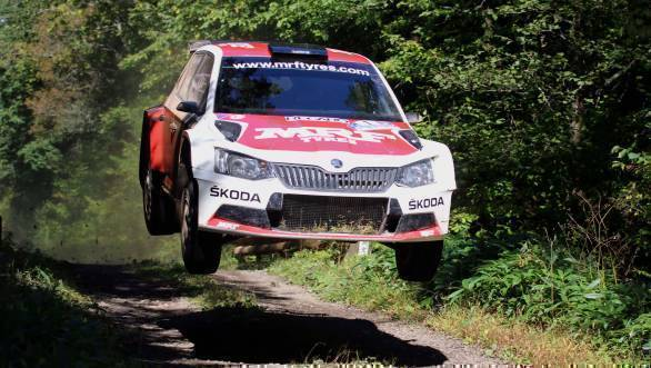 Gaurav Gill on the stages of Rally Hokkaido, Round 4 of the 2016 Asia Pacific Rally Championship