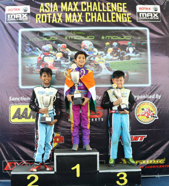 2016 Asian Karting Championship Shahan Ali Mohsin podium