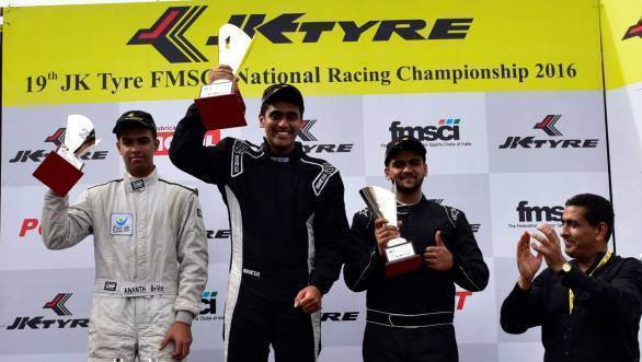 Nayan Chatterjee scored a double win in the Euro JK 16 championship
