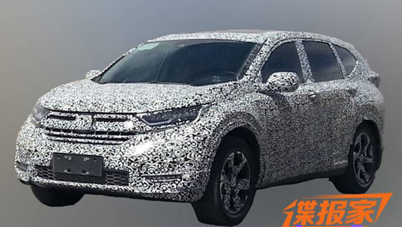 Spied: India-bound 2017 Honda CR-V caught testing in China