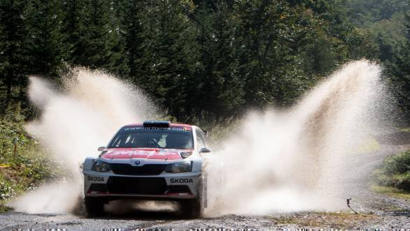 Gaurav Gill on his way to victory at the 2016 APRC Rally Hokkaido