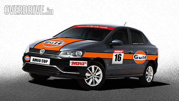 Artist's rendition of the 2017 Volkswagen Ameo Cup car