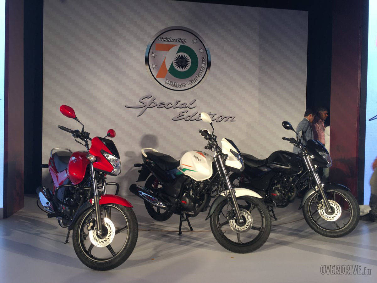 The white model with the tricolour motif is a special edition. 70 will be made to make 70 million Heros but the pricing and availability has not yet been revealed.