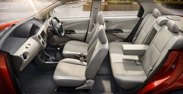 Interiors of The New Platinum Etios