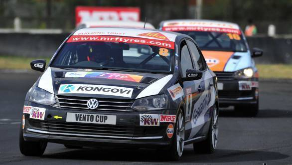 Ishaan Dodhiwala leads the Volkswagen Vento Cup Championship standings after a double win at Round 3 at the MMST