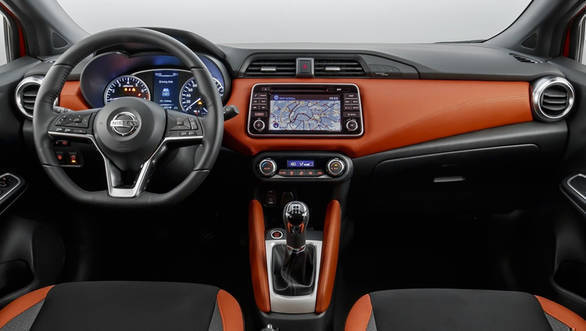Colour-customisable cabin of the 2017 Nissan Micra looks upmarket and significantly more premium than the outgoing model