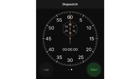 iOS 10 new stopwatch face