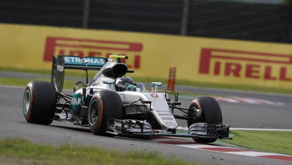 Rosberg on his way to winning the 2016 Japanese GP