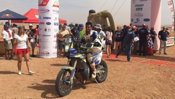 Sherco TVS' Aravind KP finished 26th overall at the 2016 Rally of Morocco