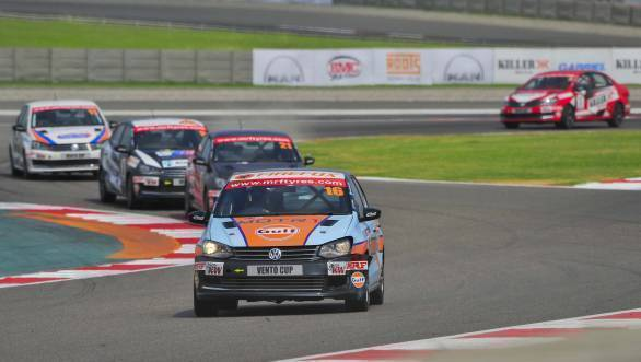 2016 Volkswagen Vento Cup Championship Karminder Pal Singh leads at the BIC