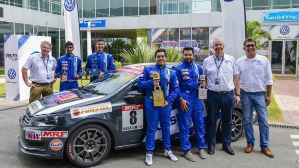 2016 Volkswagen Vento Cup Championship all the winners at the BIC
