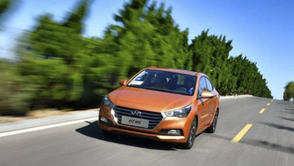 India-bound 2017 Hyundai Verna launched in China