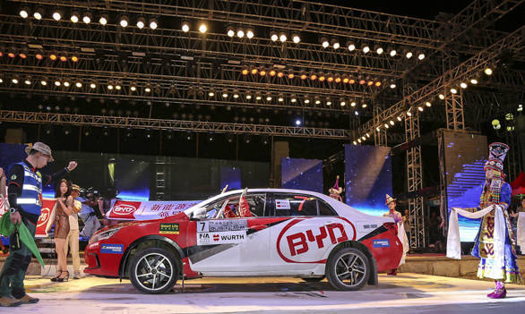 China Rally 2016 Mike Young Hybrid BYD Qin