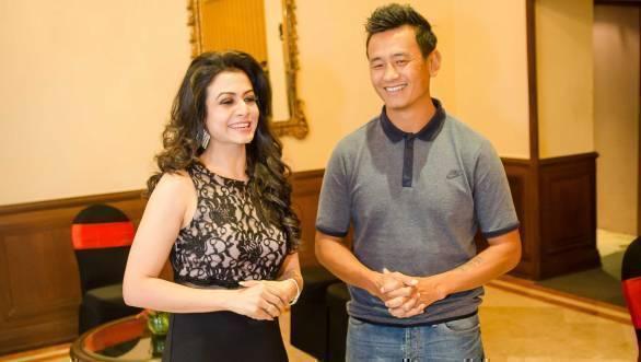 Actress Koel Mallick, and footballer Bhaichung Bhutia, India Speed Week ambassadors