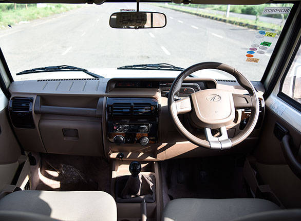 The interior is crude but functional. It isn't well put together as well. Creature comforts include an airconditioner and a Bluetooth-enabled audio system