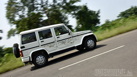 The Bolero hates corners and will make you feel nervous if you are driving one at a higher speed than you usually should with this top heavy SUV