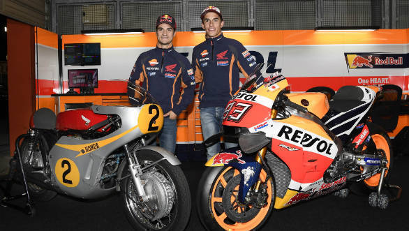 Marquez & Pedrosa with RC181 and RC213V