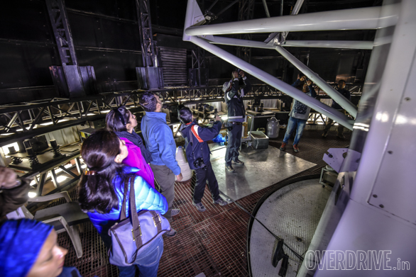 Inside the observatory, with the worlds highest 2 metre diameter lens!