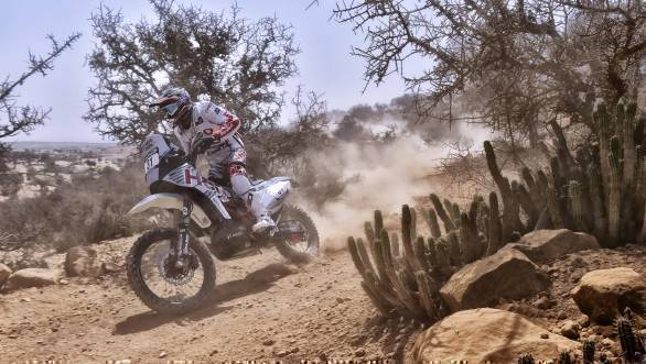 Joaquim Rodriguez ended the day 12th for Hero MotoSports Team Rally