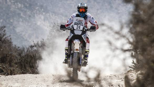 CS Santosh ended the Prologue at Morocco 26th overall