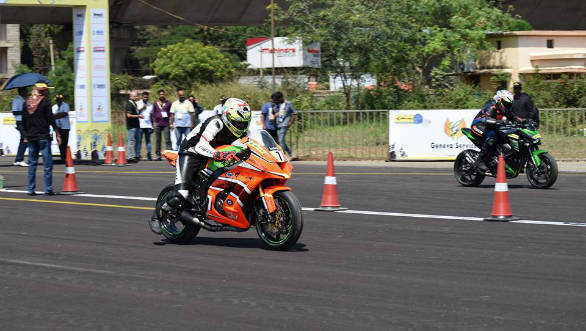Speedsters involved in a fiery action at the JK Tyre Vroom 2016, held at the Jakkur Aerodrome in Bengaluru on Sunday 16, 2016