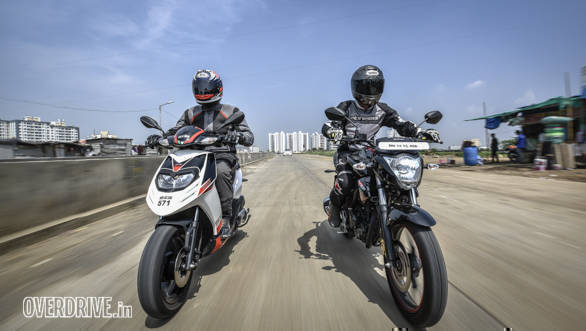 A pair of stellar commuters these two are. The Suzuki Gixxer covers all the numeric bases and then proves to be a fun, involving motorcycle to ride. The Aprilia is the sportiest, most focused scooter money can buy in India.