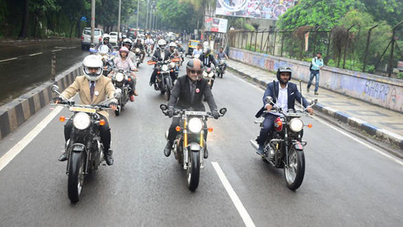 Distinguished Gentleman's Ride held in India
