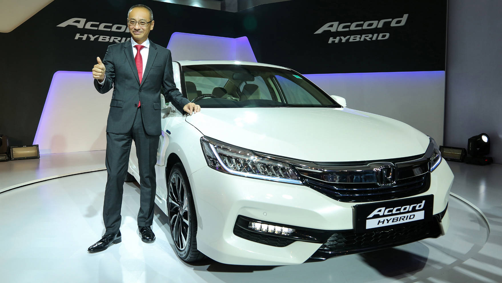 Yoichiro Ueno, president & CEO, Honda Cars India Ltd at the launch of Honda Accord Hybrid in India