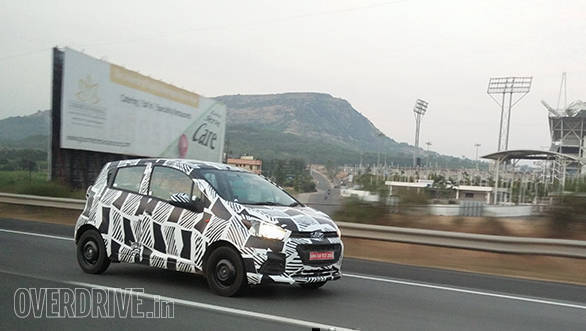 Spied: 2017 Chevrolet Beat spotted testing in India