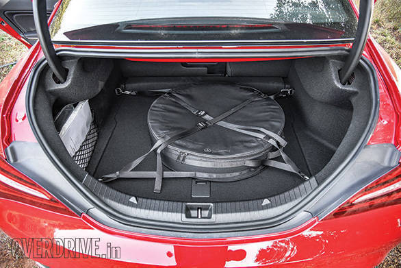 The space-saver spare wheel in the boot eats quite a bit of space