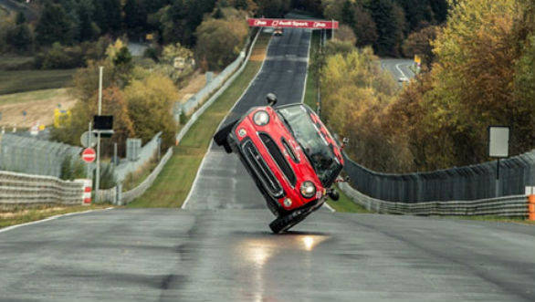Video Worth Watching: Mini Cooper sets Nurburgring lap record on two wheels