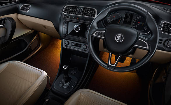 The revised upholstery and touchscreen infotainment system are the revisions on the inside. Note the new amber colour footwell lighting