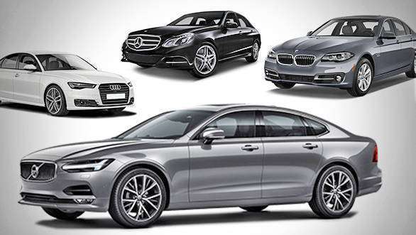 Spec comparo: Volvo S90 vs Mercedes-Benz E 250d vs BMW 520d vs Audi A6 35 TDI