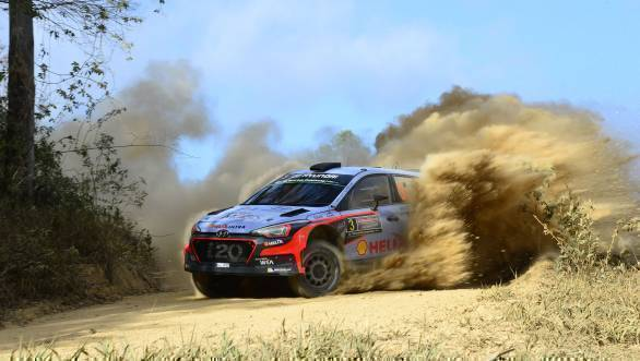 Thierry Neuville took third place for Hyundai at Rally Australia