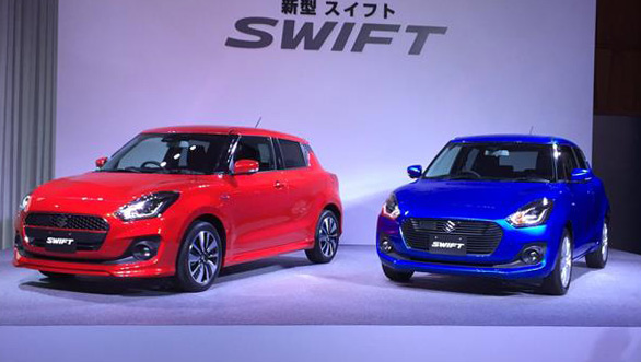 India-bound 2017 Maruti Suzuki Swift showcased