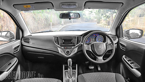 The Baleno gets a well-designed dash  but the Apple CarPlay/Android Auto touchscreen system from the top model is missed