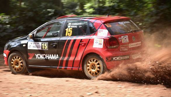 Karna Kadur and Nikhil Pai were just seven seconds behind the INRC Leg 1 leaders, before disaster struck and they earned a penalty