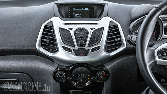 The EcoSport's centre console looks and feels very outdated in this day and age of the touchscreen
