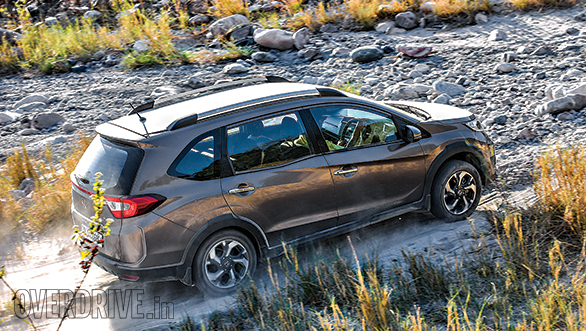 The BR-V was a surprisingly comfortable car over broken roads and the rocky riverbed