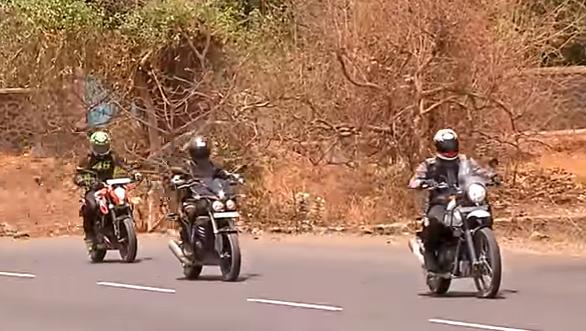 RE Himalayan v KTM 200 Duke v Mahindra Mojo - Comparative Review - Video